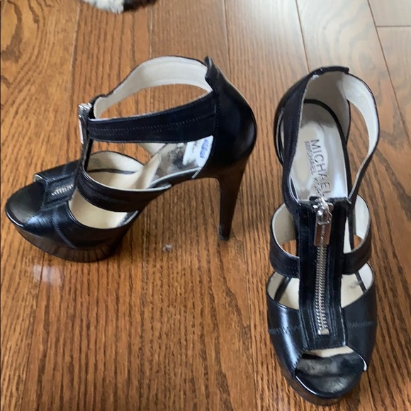Michael Kors Zipper Black Heels